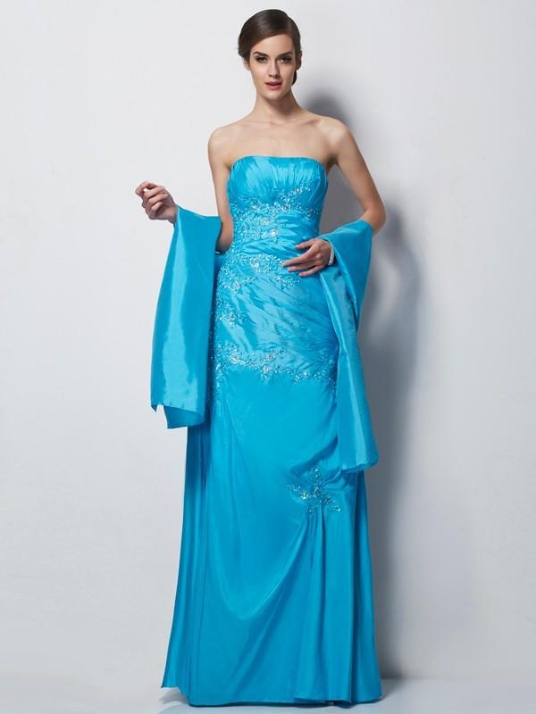 A-Line/Princess Applique Sweetheart Sleeveless Floor-Length Taffeta Mother of the Bride Dresses