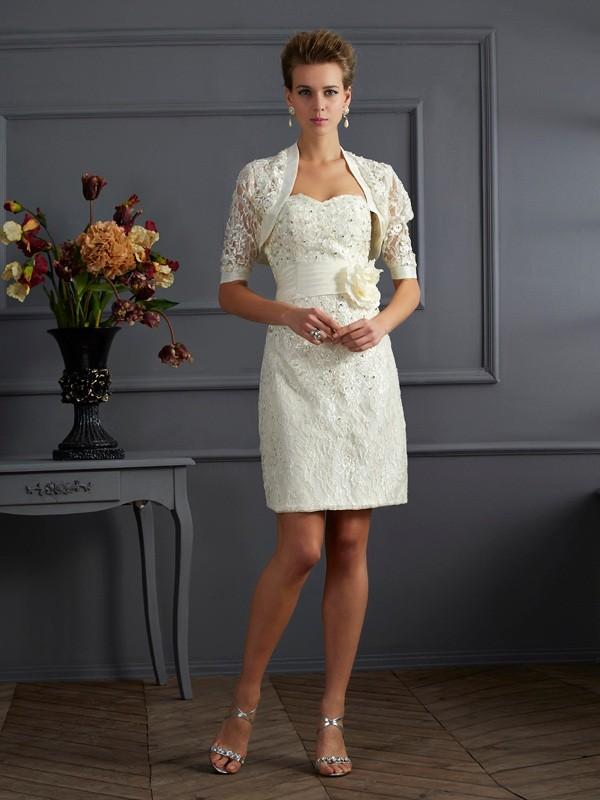 Sheath/Column Beading Sweetheart Sleeveless Knee-Length Taffeta Mother of the Bride Dresses