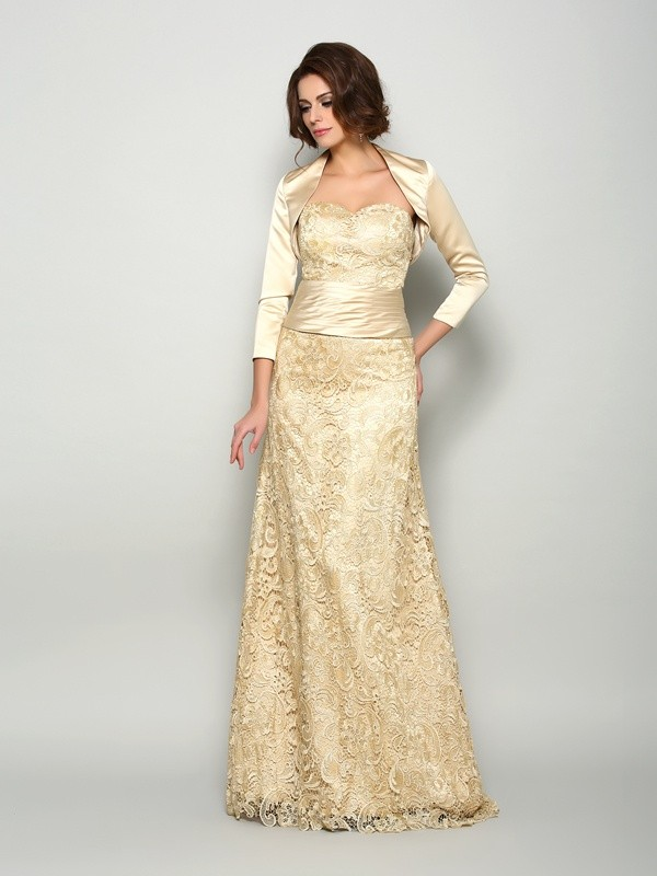 A-Line/Princess Sweetheart Sleeveless Floor-Length Satin Mother of the Bride Dresses