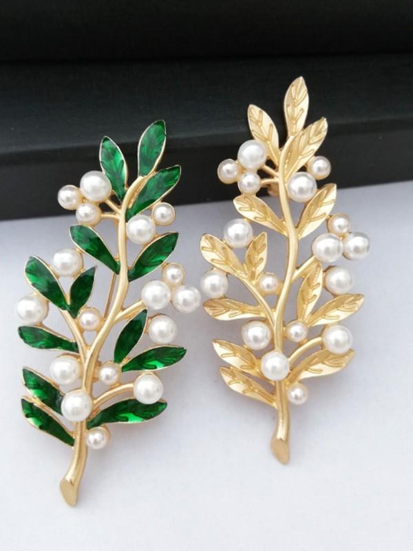 Vintage Alloy With Imitation Pearl Ladies' Brooch