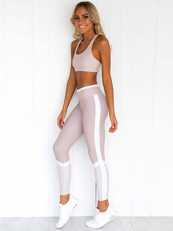 Comfy Cotton Yoga Sports Bra&Leggings