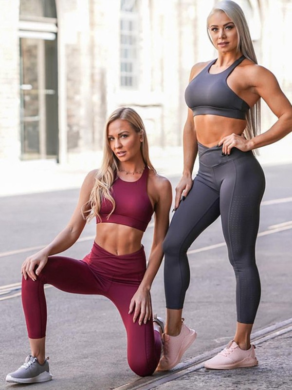 Pretty Cotton Yoga Sports Bra&Leggings