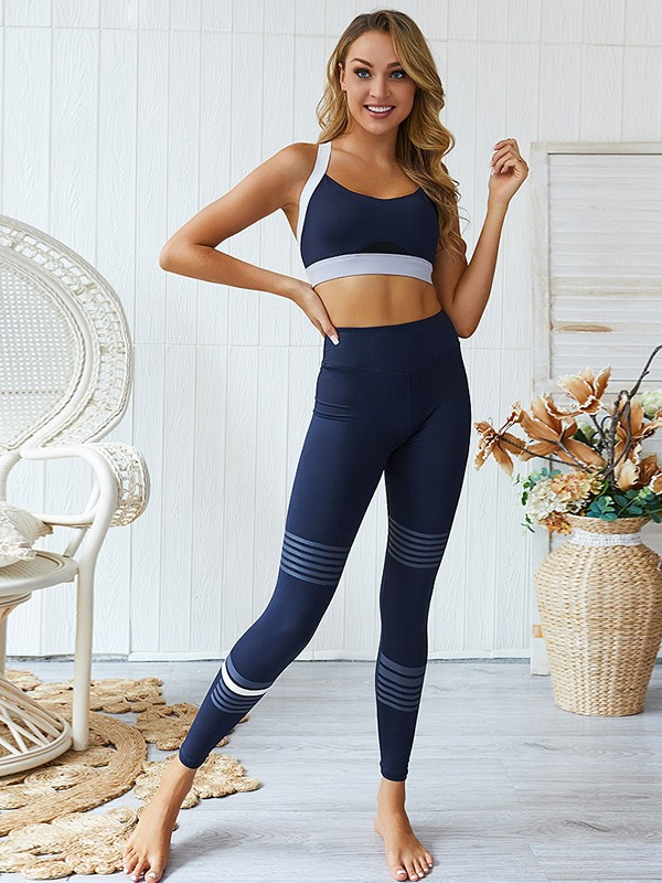 Gorgeous Cotton Yoga Sports Bra&Leggings