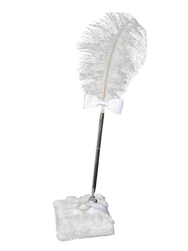Brilliant Feather With Rhinestone Pen Set