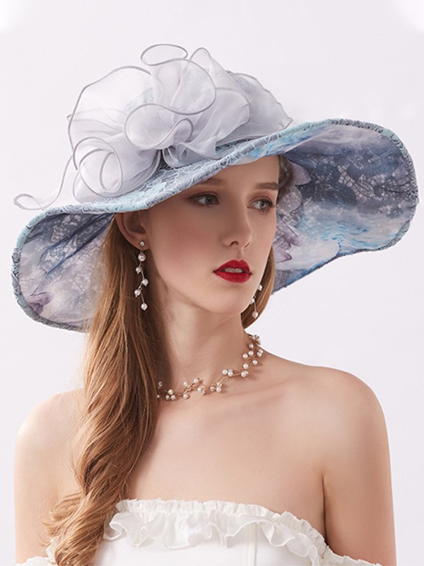 Ladies' Lovely Lace Silk Flower Adjustable Kentucky Derby Hats/Tea Party Hats