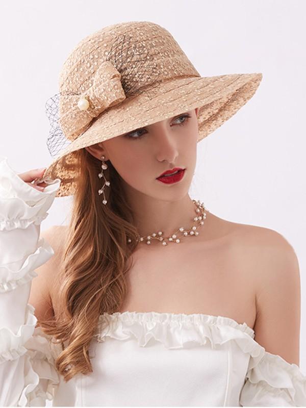 Ladies' Charming Lace Bowknot Adjustable Beach/Sun Hats