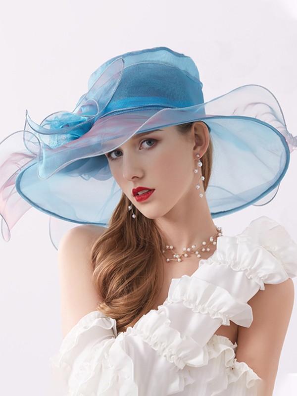 Ladies' Romantic Silk Flower Adjustable Beach/Sun Hats