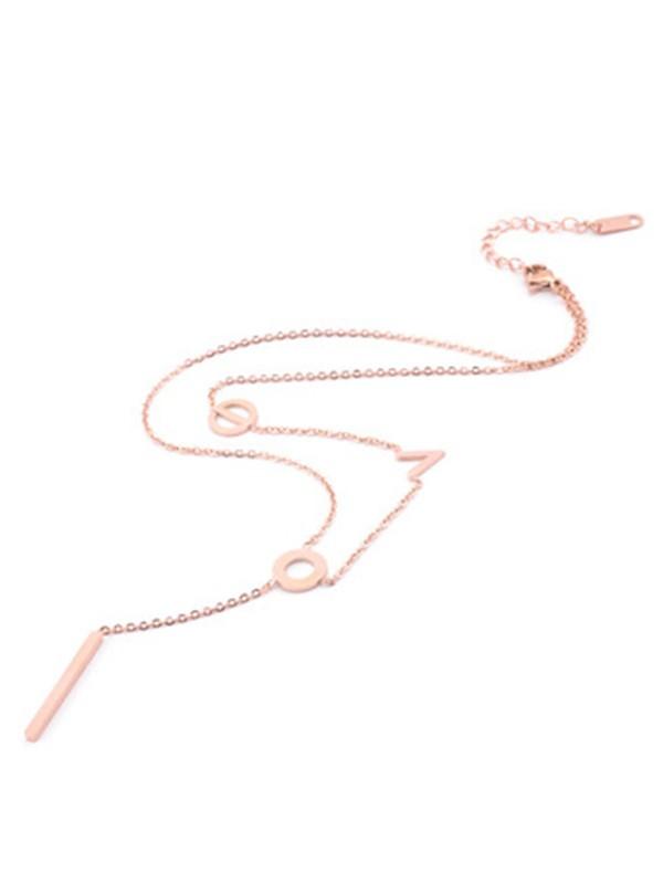 Korean Lovely Titanium Necklaces For Women