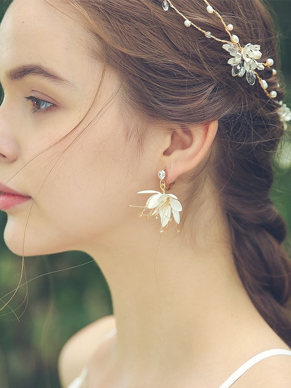 Glamorous Alloy With Flower Hot Sale Earrings For Ladies