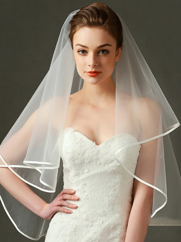 Classic Tulle Two Tier Fingertip Wedding Veils