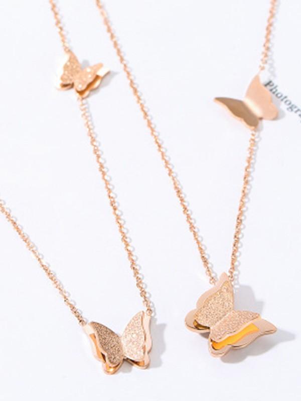 Unique Titanium Hot Sale Necklaces With Butterfly