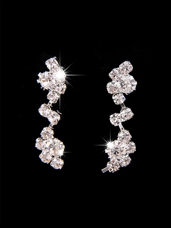 Pretty Copper With Rhinestone Jewelry Sets For Women