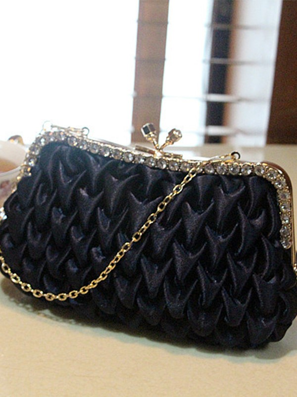 Gorgeous Milanese Evening/Party Handbags With Rhinestone