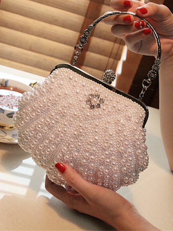 Elegant Imitation Pearl Evening/Party Handbags