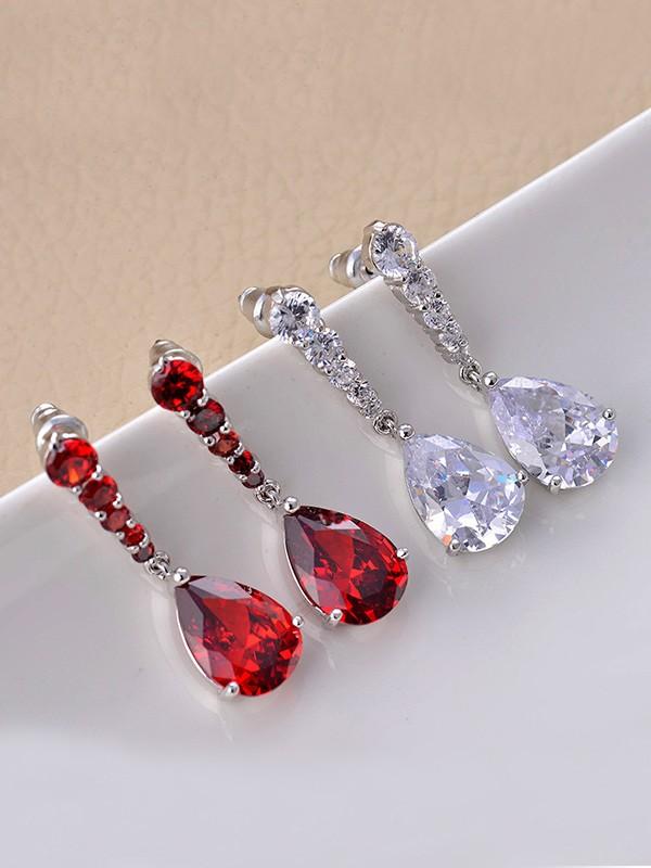 Graceful Copper With Zircon Hot Sale Drop Earrings