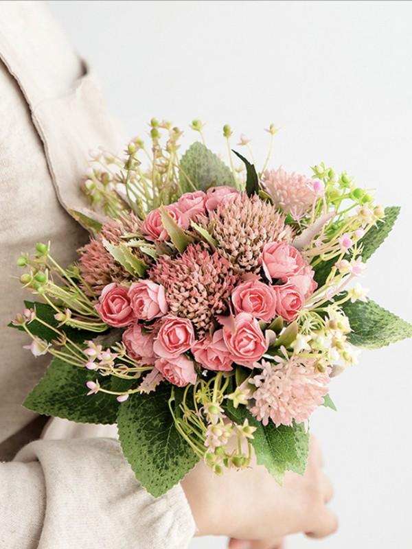 Sweet Free-Form Plastic Bridal Bouquets