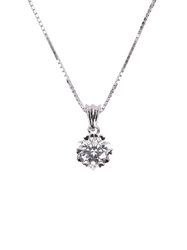 Simple S925 Silver Ladies's Necklaces
