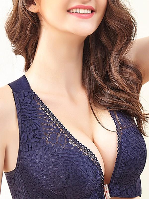 Attractive Lace Back Closure Bras