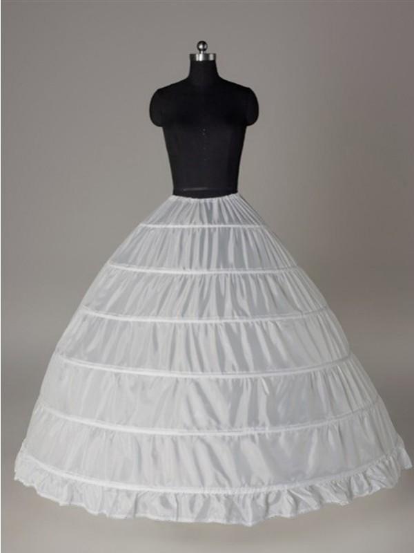 Nylon Ball-Gown 1 Tier Floor Length Slip Style/Wedding Petticoats