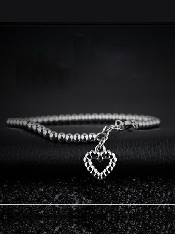 Beautiful Titanium With Heart Bracelets For Women