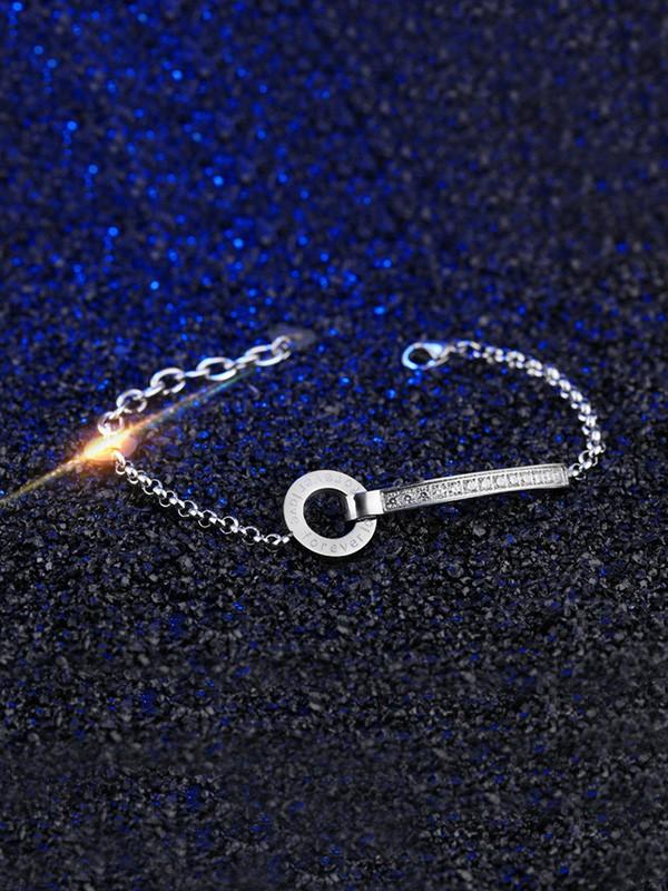 Ladies' Personality Titanium Circle Bracelets
