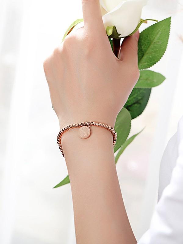 Charming Titanium With Circle Pattern Bracelets For Ladies