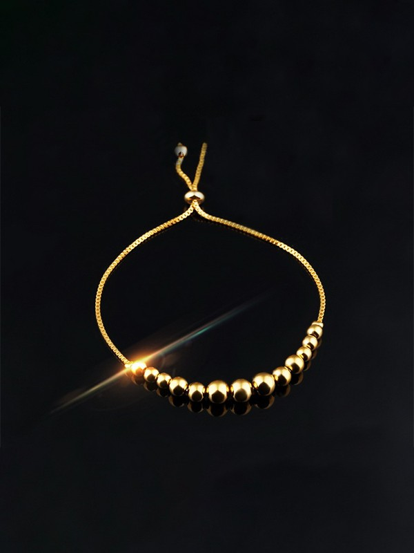 Unique Copper With Beads Chain Bracelets For Women