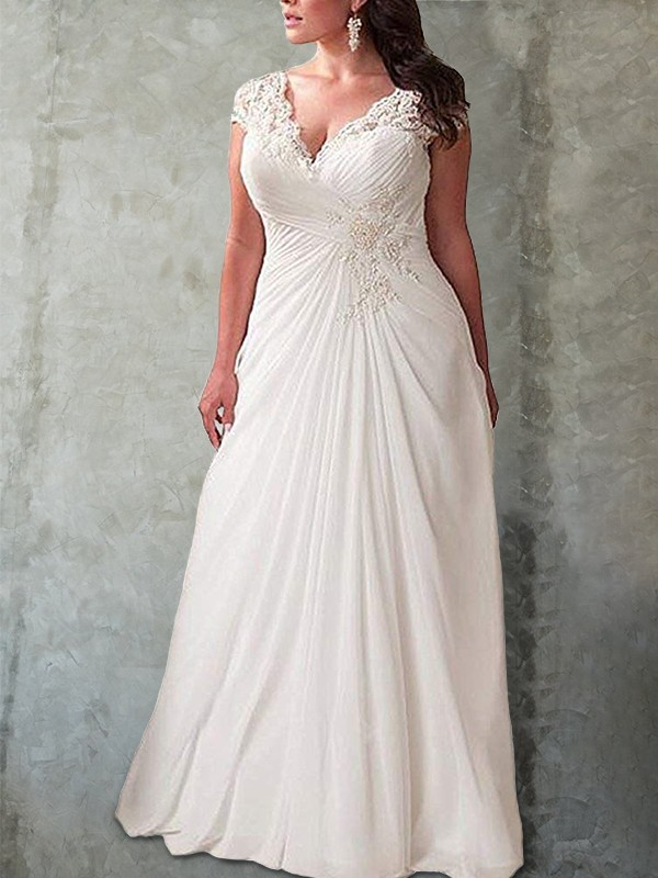 Empire Lace Sweetheart Long Sleeves Sweep/Brush Train Chiffon Wedding Dresses