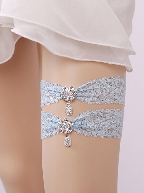 Gorgeous Bridal/Feminine Lace With Rhinestone Garters