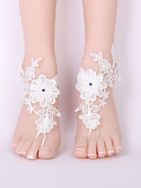 Delicate Bridal/Feminine Lace With Applique Anklets