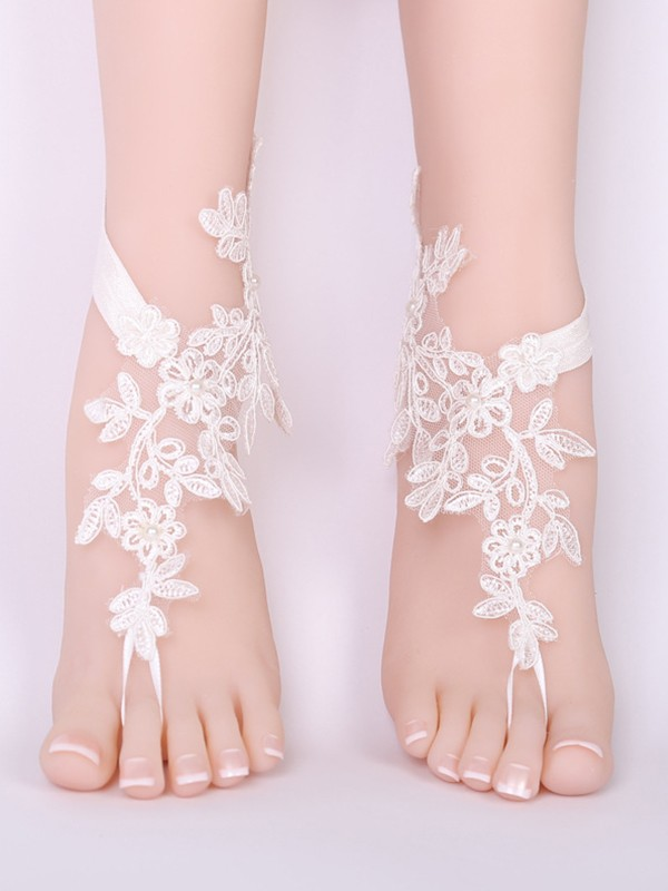 Brilliant Bridal/Feminine Lace With Applique Anklets