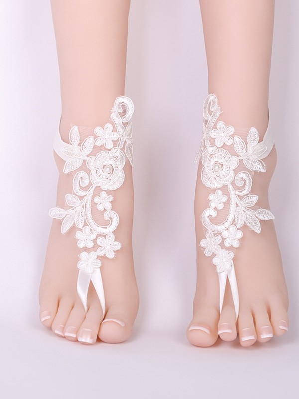 Pretty Bridal/Feminine Lace With Applique Anklets