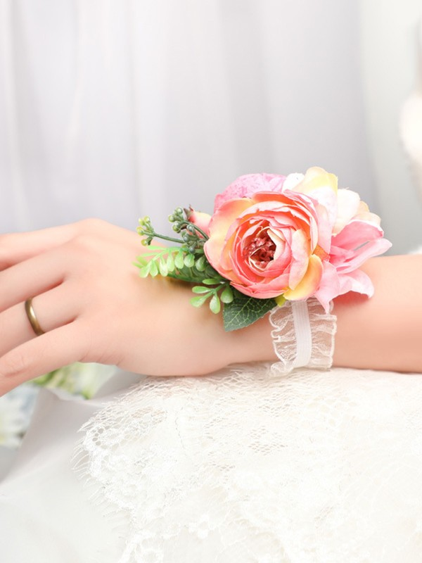 Attractive Silk Flower Wrist Corsage