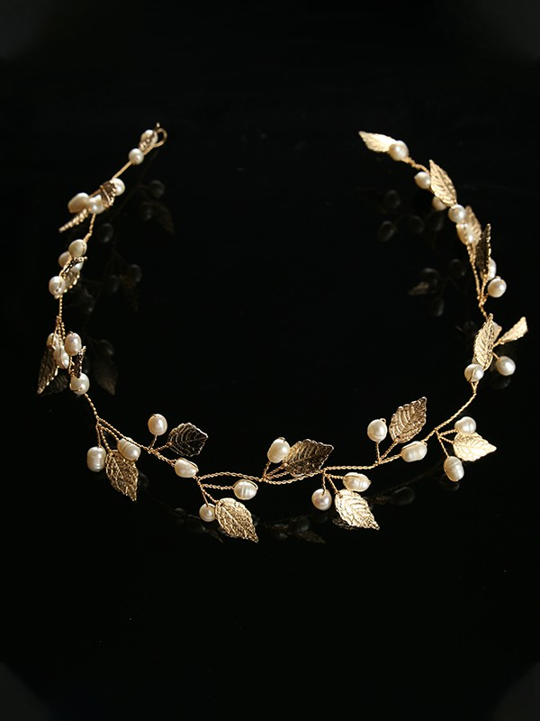 Charming Leaf Glass Headpieces
