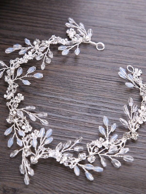 Trendy Leaf Crystal Headpieces