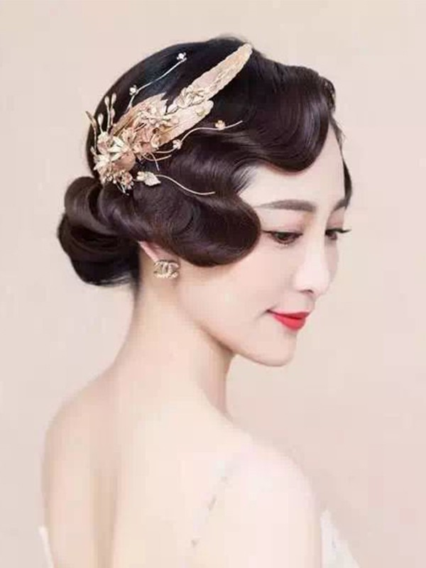 Trendy Flowers Alloy Headpieces