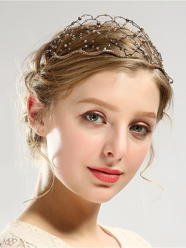 Quite wave Crystal Headpieces