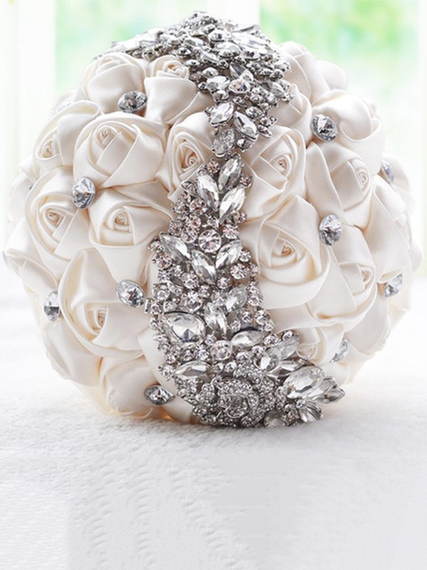 Gorgeous Round Artificial Flower Bridal Bouquets