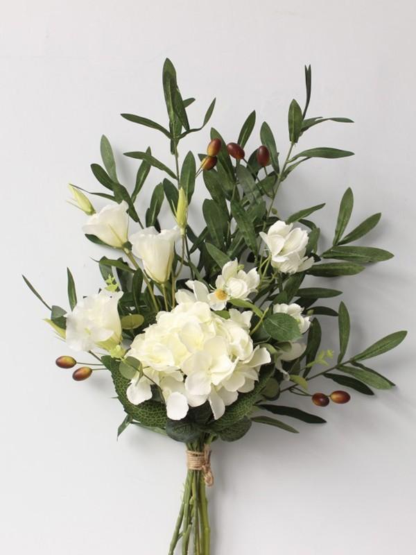 Pure Free-Form Silk Flower Bridal Bouquets