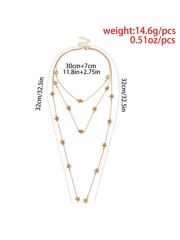 Unique Copper With Star Ladies's Necklaces