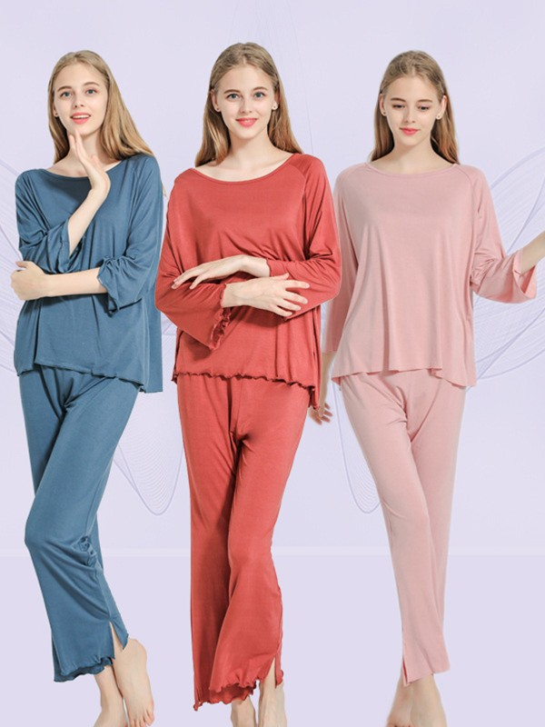 Soft Modal Pajamas Long Sets