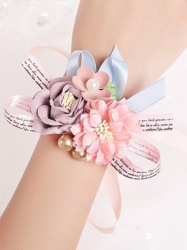 Delicate Silk Flower Wrist Corsage