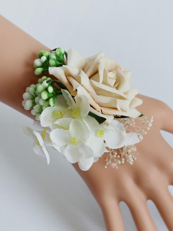 Pretty Silk Flower Wrist Corsage