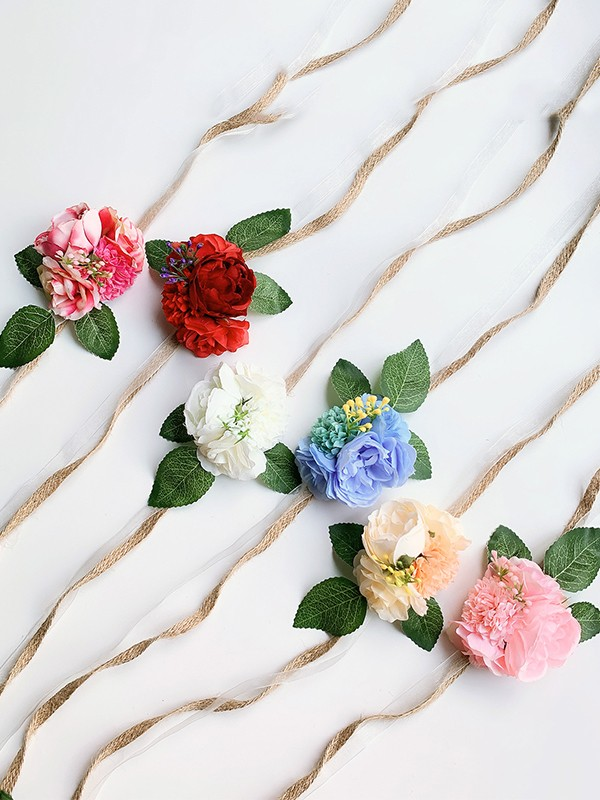 Fancy Silk Flower Wrist Corsage